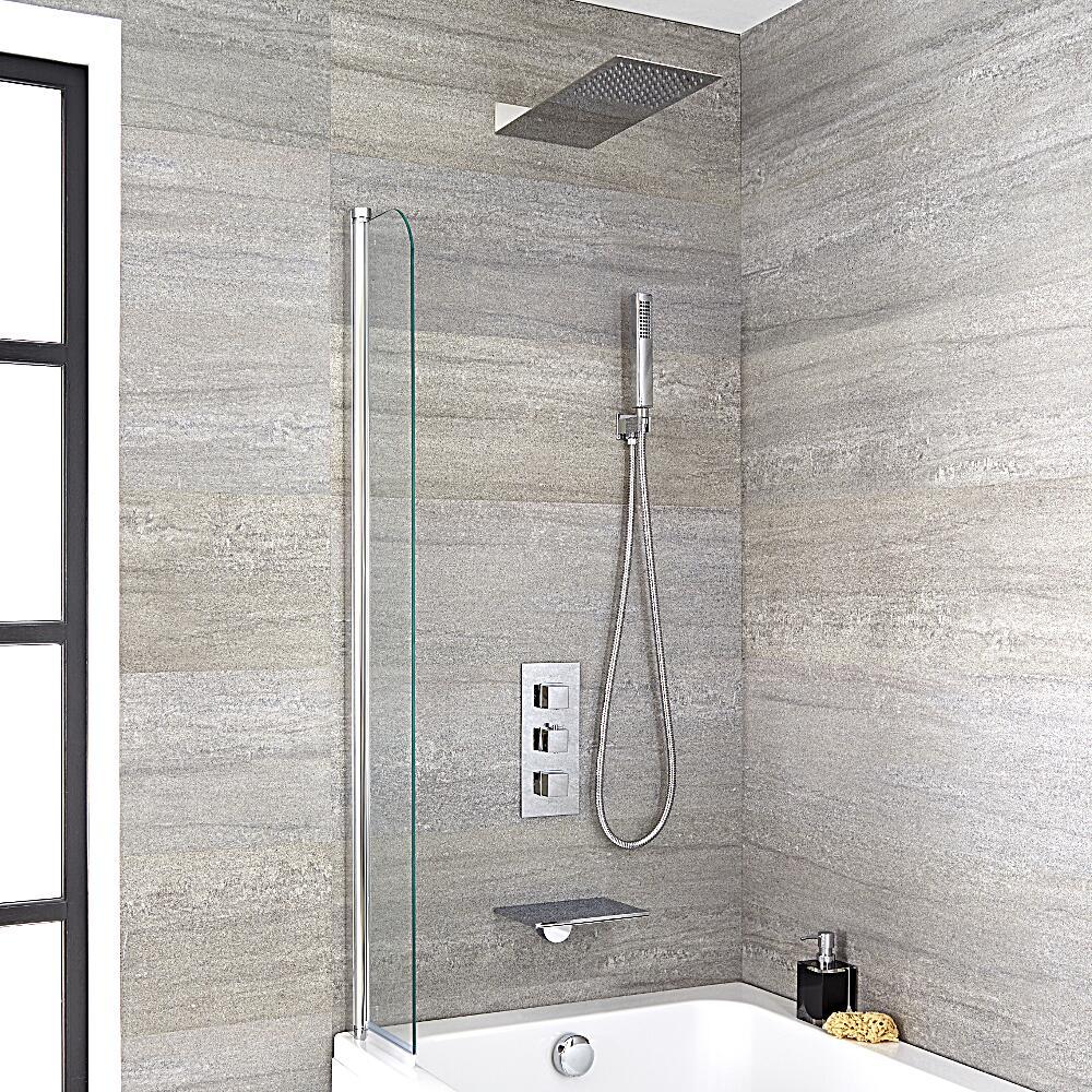 kit de douche thermostatique encastrable pomme de douche douchette bec verseur cascade. Black Bedroom Furniture Sets. Home Design Ideas