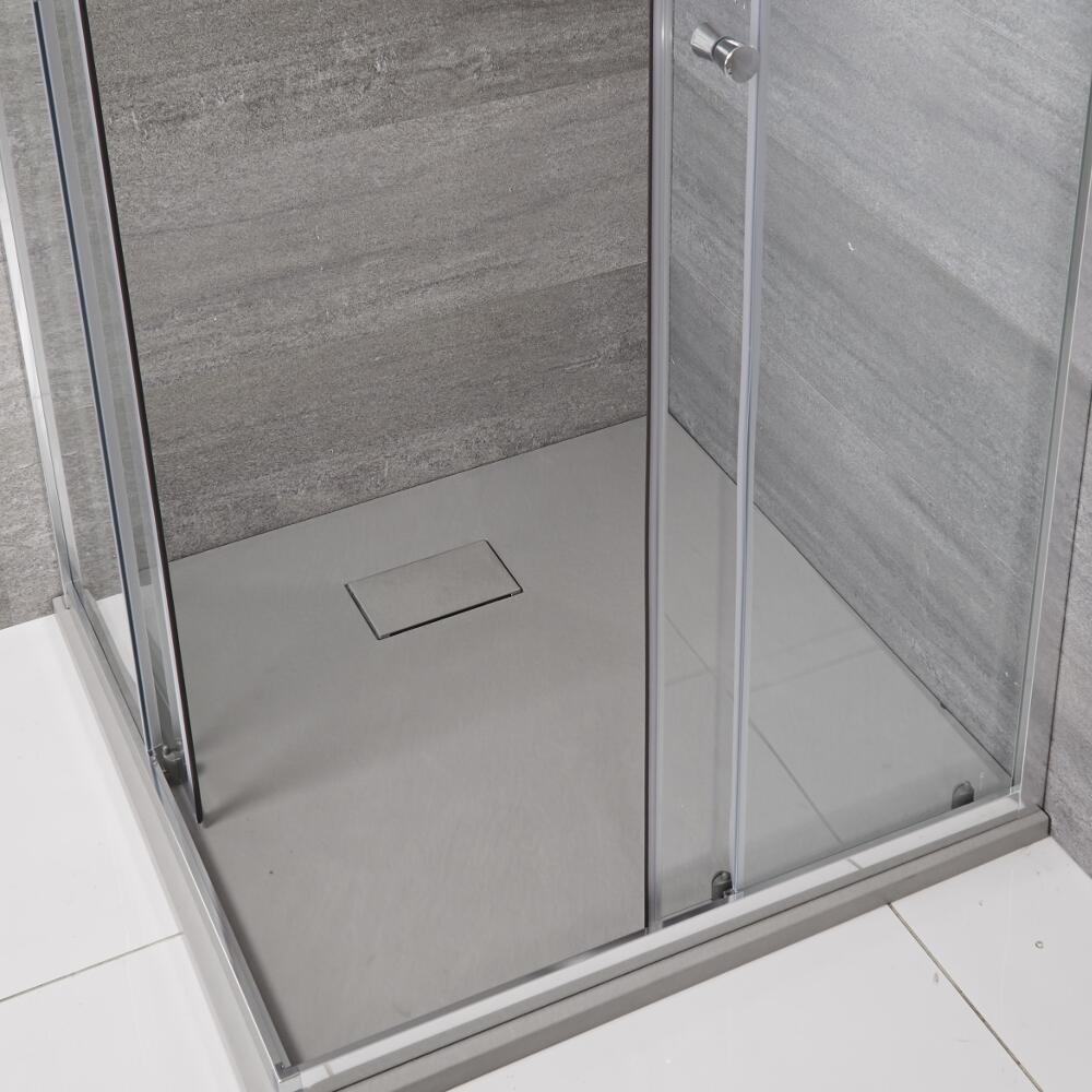 Receveur de douche carré gris perle 90x90cm