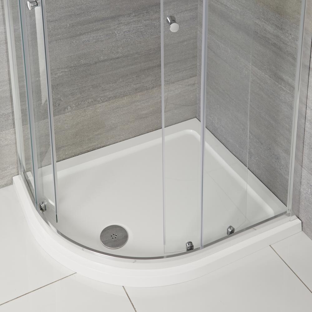 Receveur de douche quart de rond 120x90cm Angle gauche