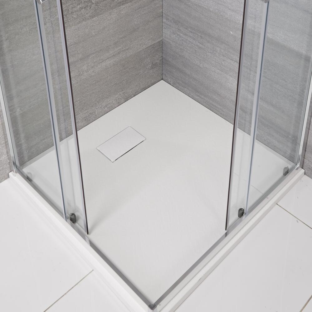 Receveur de douche blanc carré 90x90cm