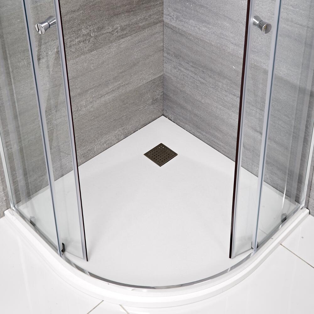 Receveur de douche blanc quart de rond 90cm