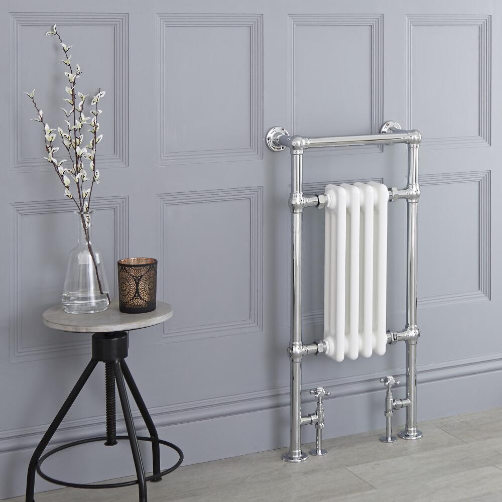 Sèche-serviettes rétro - Blanc - 93cm x 45cm x 15,5cm - Elizabeth