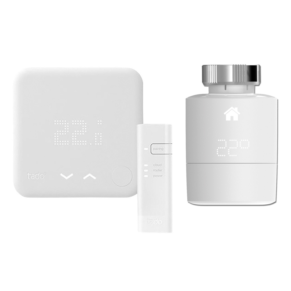 Thermostat Intelligent - Kit de Démarrage (V3) 2 Têtes thermostatique Horizontales Tado°