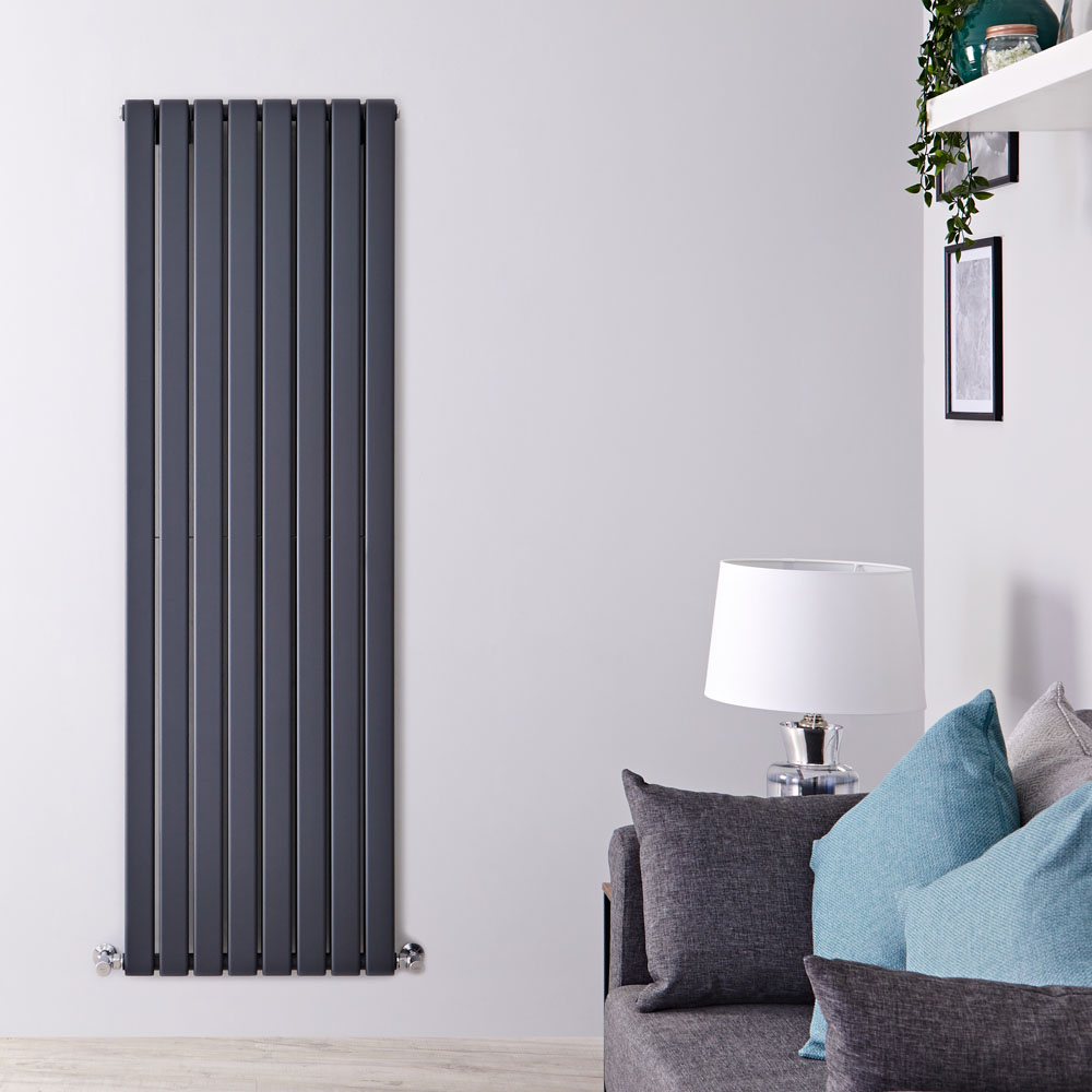 Radiateur Design Vertical Anthracite Delta 178cm x 56cm x 6cm 1979 Watts