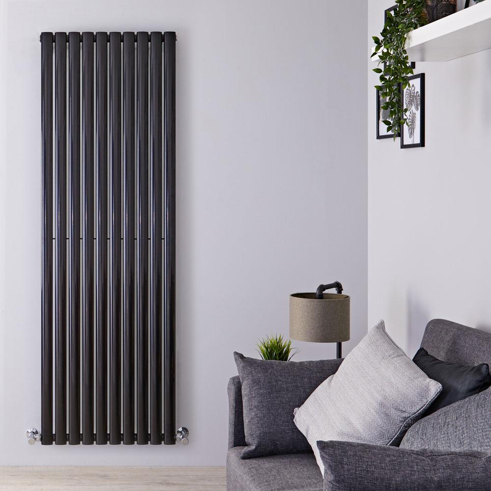 Radiateur Design Vertical Noir Vitality 178cm x 59cm x 5,5cm 1487 Watts