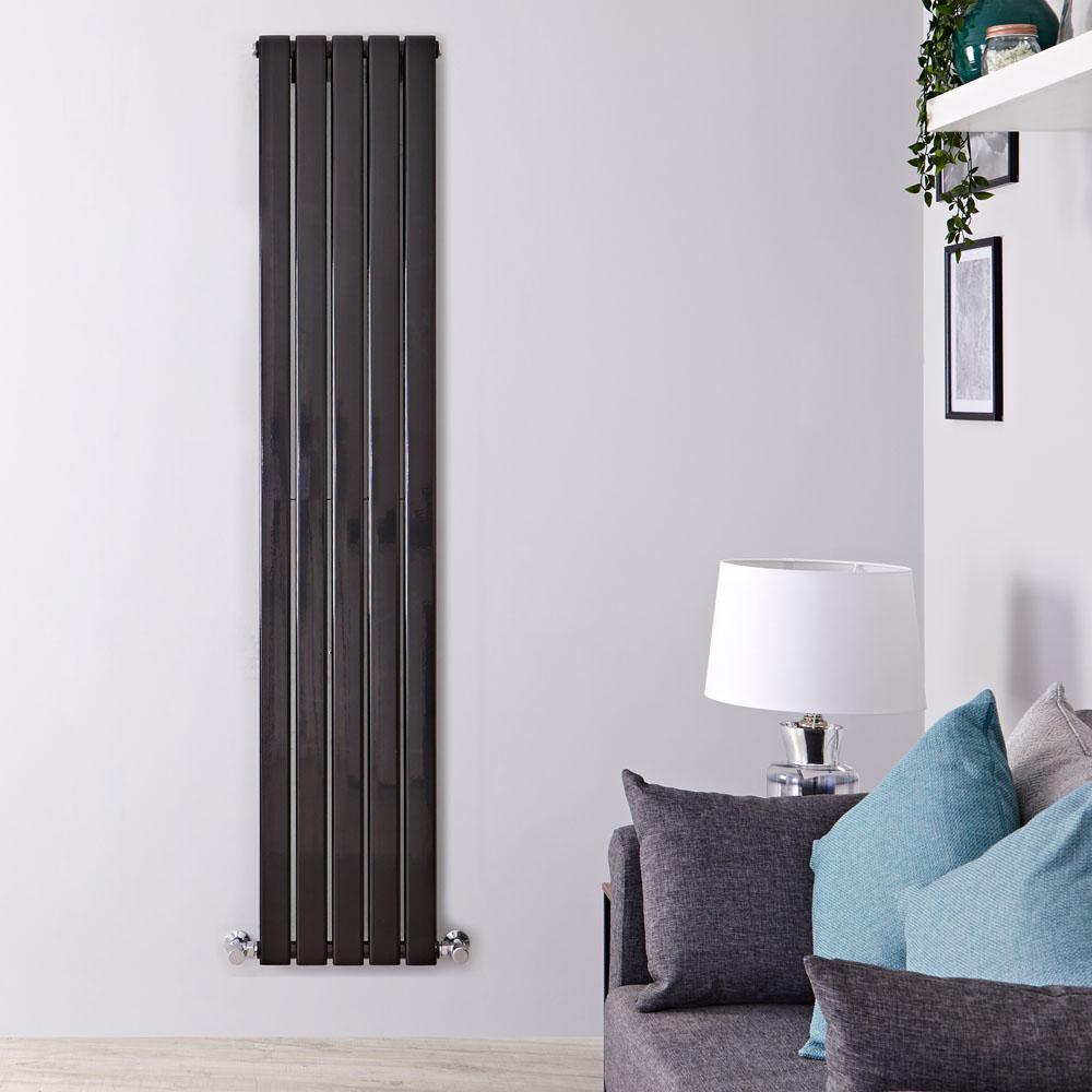 Radiateur Design Vertical Noir Delta 178cm x 35cm x 6cm 1237 Watts