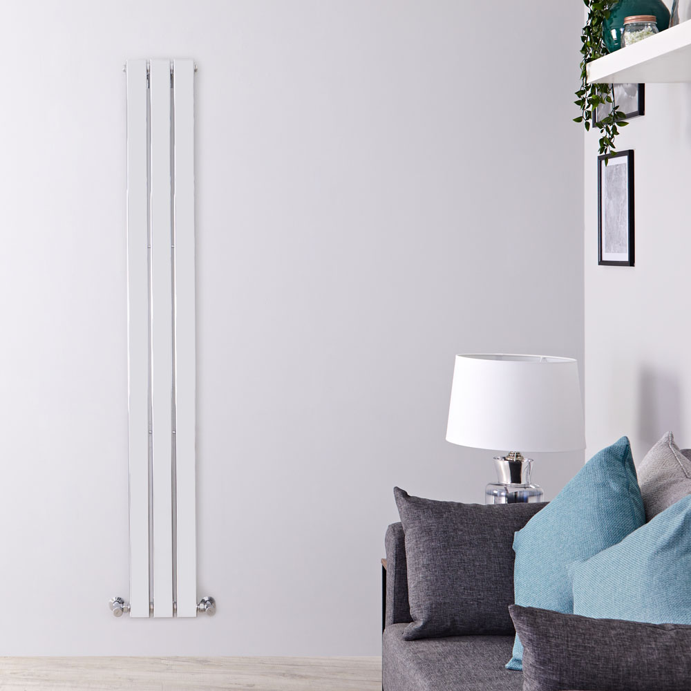 Radiateur Design Vertical Chromé Delta 180cm x 22,5cm x 5cm 334 Watts