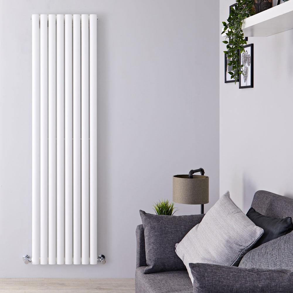 Radiateur Design Vertical Blanc Vitality 178cm x 47,2cm x 5,6cm 1190 Watts