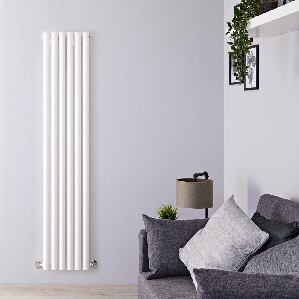 Radiateur Design Vertical Blanc Savy 178cm x 35,4cm x 8cm 1043 Watts