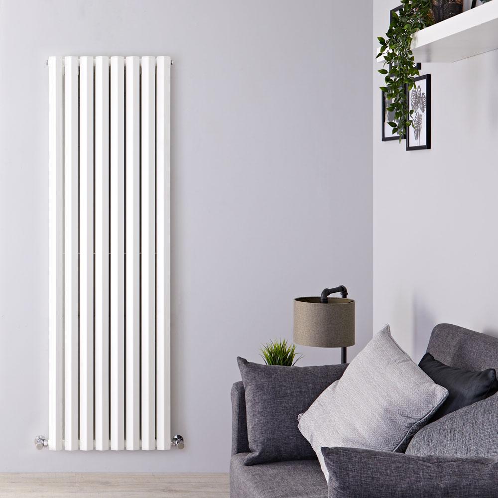 Radiateur Design Vertical Blanc Salisbury 178cm x 56cm x 8,6cm 2158 Watts