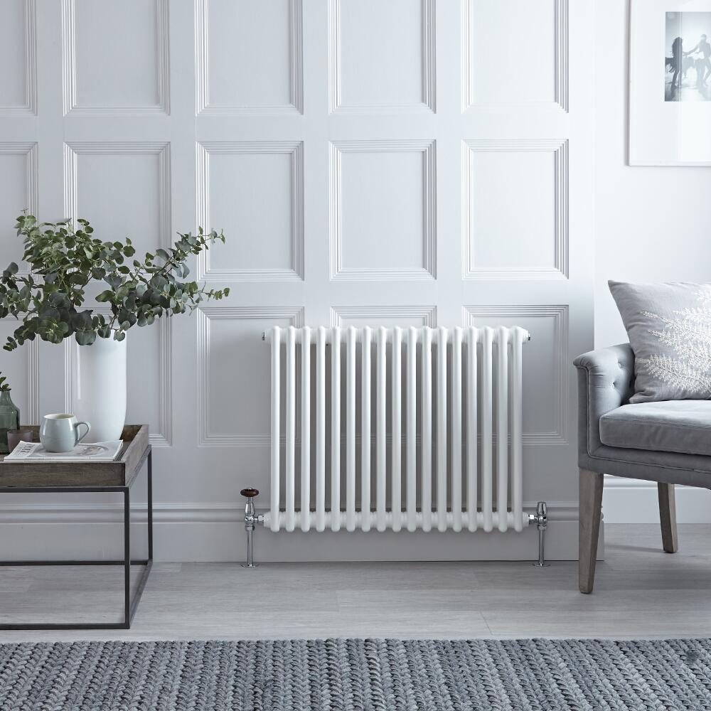 Radiateur Horizontal Style Fonte Blanc Windsor 60cm x 78,5cm x 6,8cm 965 Watts