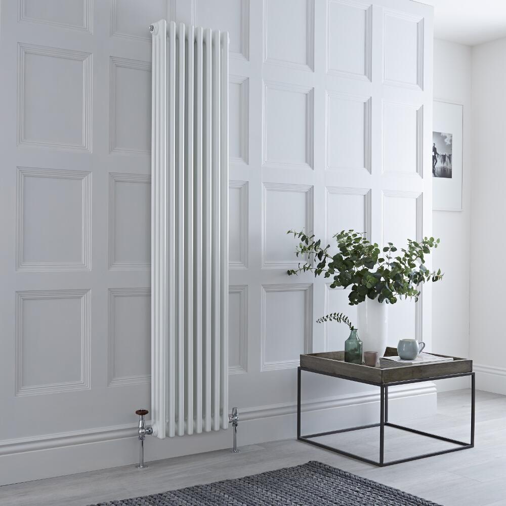 Radiateur Vertical Style Fonte Blanc Windsor 180cm x 38,3cm x 10cm 1558 Watts