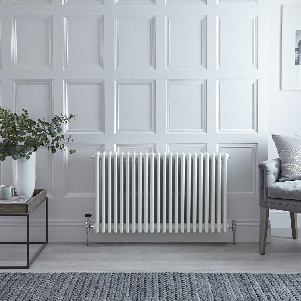 Radiateur horizontal style fonte à colonnes – Blanc – 60 cm x 101 cm - Windsor