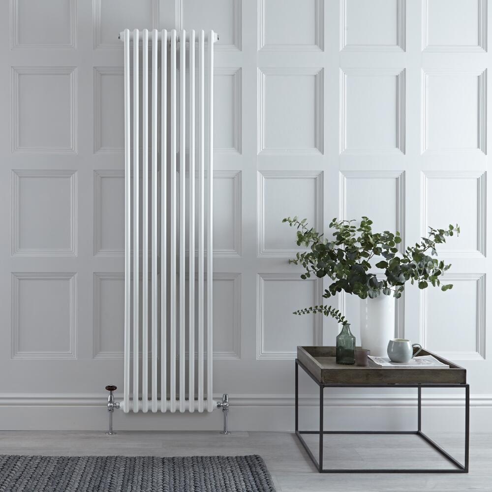 Radiateur Vertical Style Fonte Blanc Windsor 180cm x 47,3cm x 10cm 1948 Watts