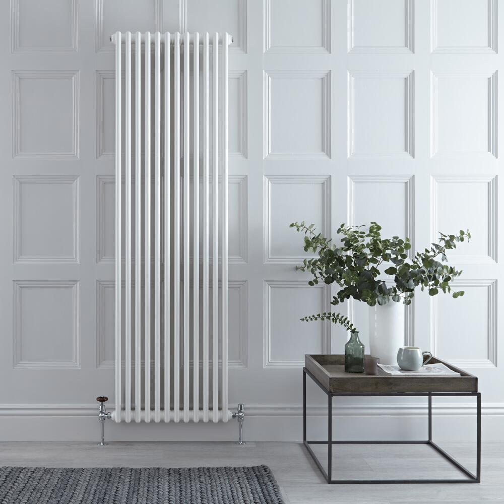 Radiateur Vertical Style Fonte Blanc Windsor 180cm x 56,3cm x 10cm 2338 Watts