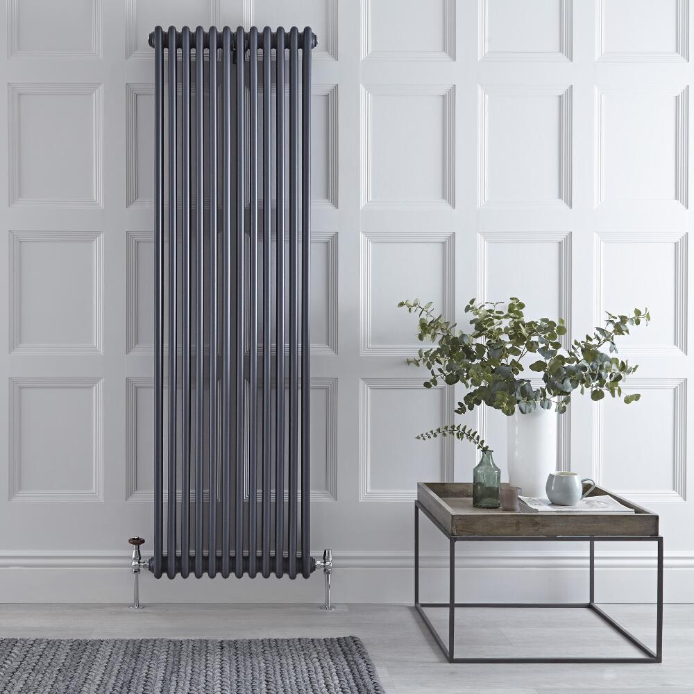 Radiateur Vertical Style Fonte Anthracite Windsor 180cm x 56.3cm x 10cm 2338 Watts