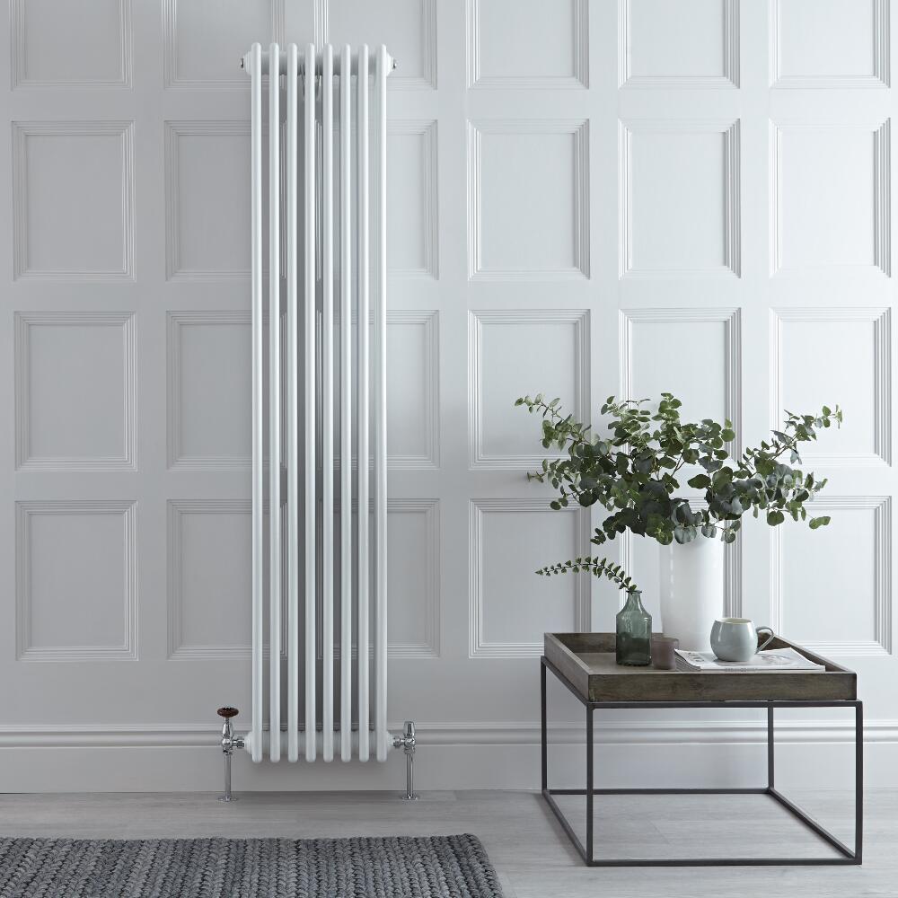 Radiateur Vertical Style Fonte Blanc Windsor 180cm x 38cm x 13,3cm 2153 Watts