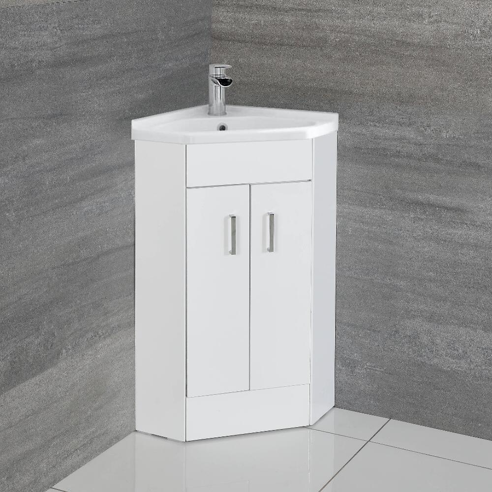 Meuble-lavabo d'angle Cluo