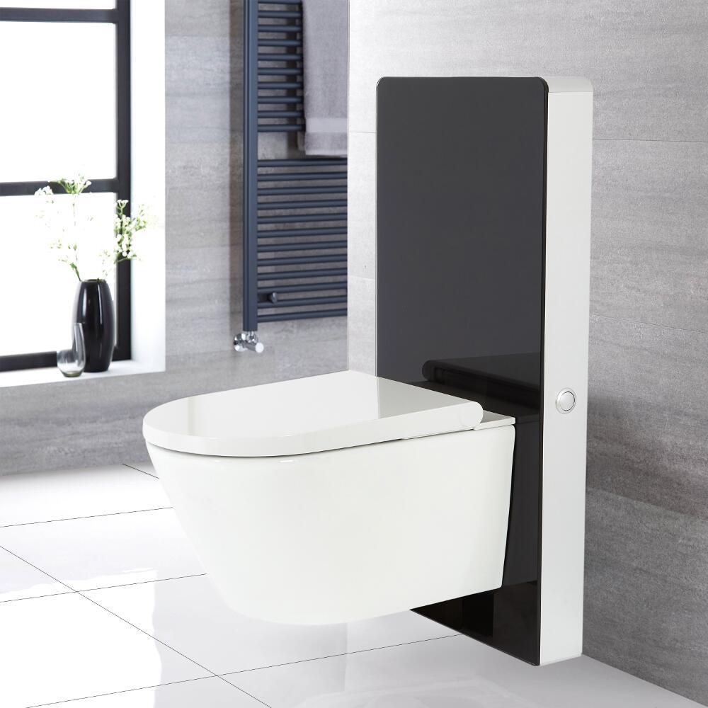 WC japonais Hirayu avec meuble – 50 cm – Noir – Saru