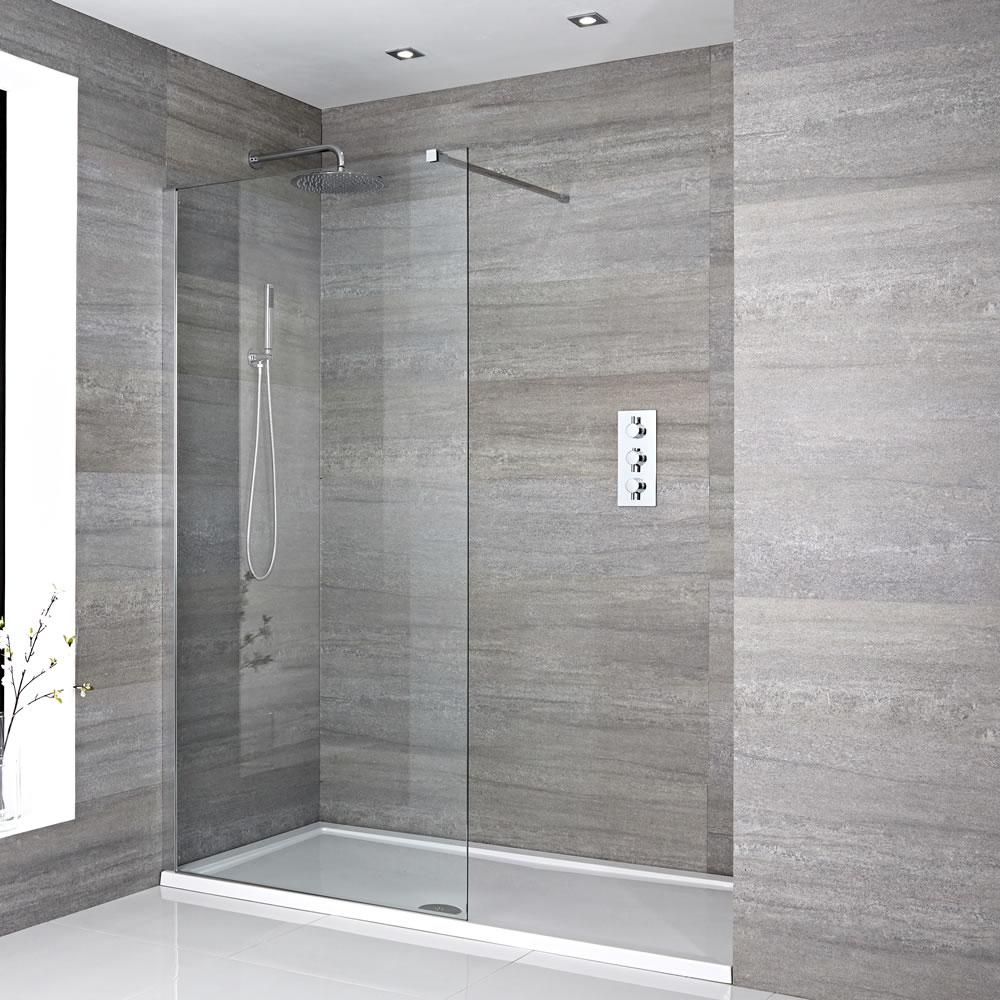 Douche italienne avec receveur de douche multiples - Kit receveur douche italienne ...