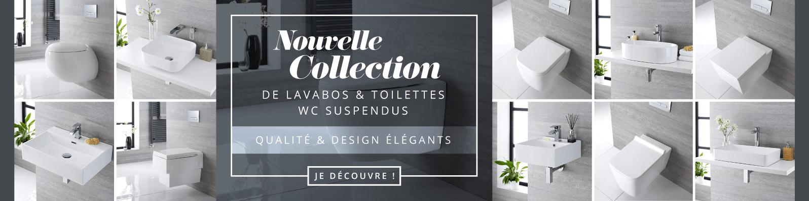 Nouvelle Collection de Lavabos & Toilettes WC Suspendus