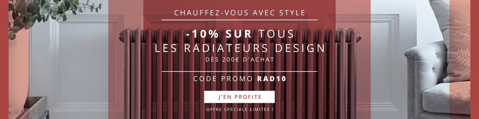 Chauffez-vous avec Style -10% sur Tous les Radiateurs Design dès 200€ d'achat Code Promo RAD10 Offre Spéciale Limitée ! J'en Profite